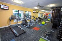 Newly renovated fitness center.