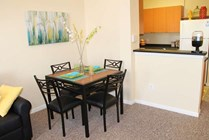 4x2 Loft: Fully Furnished Dining Room with Dining Room Table and 4 Chairs