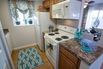 Newly remodeled kitchens.